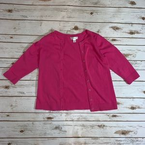 Christopher & Banks Button Down Pink Sweater